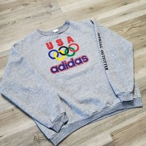 Adidas Olympics Pullover Sweater Men's Medium